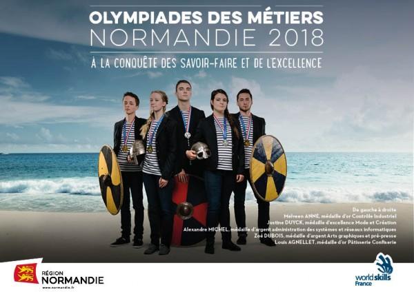Affiche Olympiades des Métiers en Normandie 2018