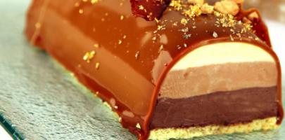 Samedis gourmands / Cours de Pâtisserie / Bûche au chocolat
