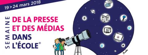 La prochaine édition de la semaine de la presse et des médias dans l'école aura lieu du 19 au 24 mars 2018
